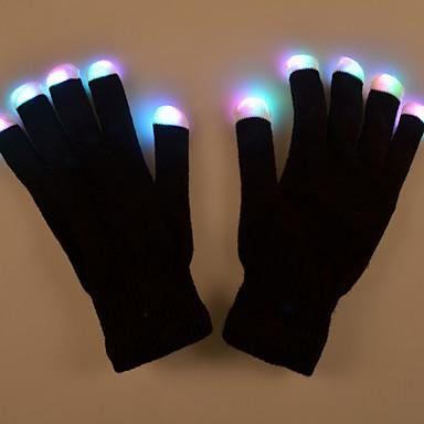 Valentin-napi ajándék kreatív ragyogás kesztyű jelmezek színes fény smink kesztyű prop teljesítményű lámpa led