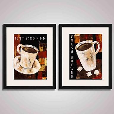 Csendélet Ünneő Élelmiszer/ital Absztrakt Szabadidő Nyomtatott művészeti alkotások Bekeretezett vászon Bekeretezett szett Wall Art,PVC