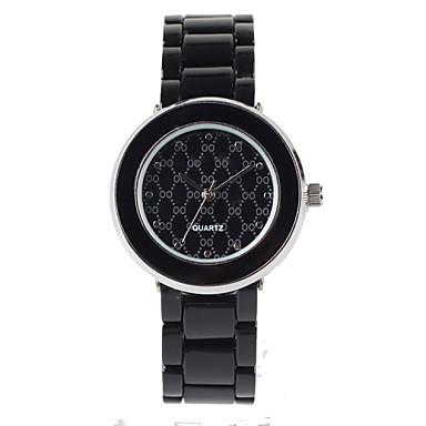 아가씨들 패션 시계 방수 석영 합금 밴드 블랙
