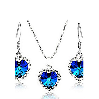 Women's Wedding Party Daily Casual Crystal Alloy Earrings Necklaces