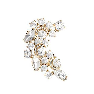 Feminino Punhos da orelha Cristal Moda Europeu Pérola Strass Chapeado Dourado 18K ouro Imitações de Diamante Cristal Austríaco Liga Jóias