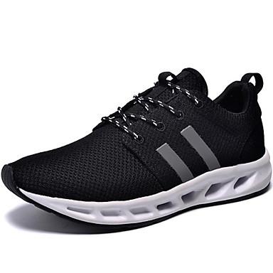 Sapatos Corrida Masculino Preto Lona / Tule
