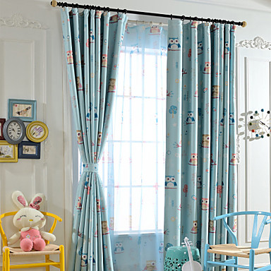Curtains Drapes Kids Room Cartoon Polyester Print