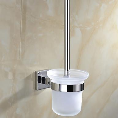 Suporte para Escova de Banheiro / Espelhado Aço Inoxidável /Contemporâneo
