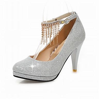 4b63976dfbb Women s Glitter Wedding Heels with Tassel Platform Mary Jane Shoes Party    Evening Dress Red Silver Gold Black  04802145
