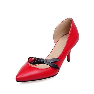 Női - Magassarkú / Kényelmes / Magasított talpú / Hegyes orrú / Csukott orrú - Esküvői cipők - Magassarkú -Esküvői / Irodai / Ruha /