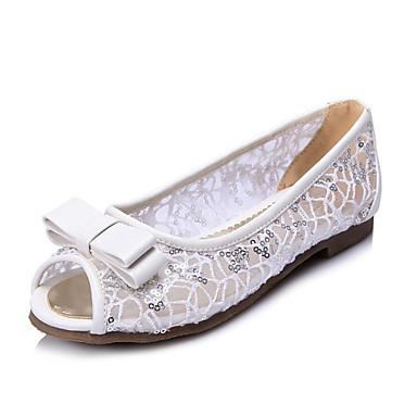 Ženske cipele - Sandale - Formalne prilike / Ležerne prilike - Čipka / Umjetna koža - Ravna potpetica - Otvorene salonke / Udobne cipele -