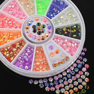 Colorful Fluorescent 3D Nail Art Glitters DIY Decal Nail Art Stips Stickers Wheel