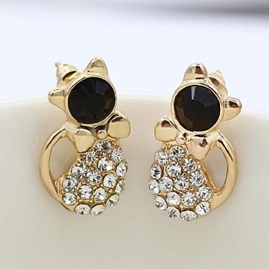Naušnica Sitne naušnice / Viseće naušnice Jewelry 1set Legura / Kubični Zirconia / Platinum Plated Žene Zlatna