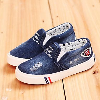 Boys  Girls  Shoes Denim Spring Summer Fall Comfort Pom-pom for Athletic  Casual Outdoor Navy Light Blue  04818748