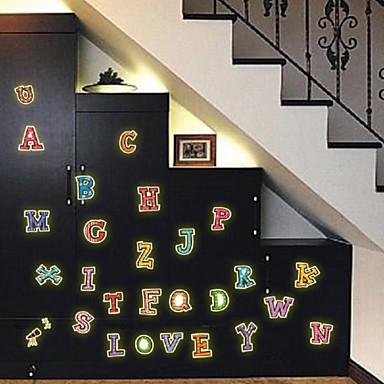 Facturers Selling Fashion Diy Luminous Wall Sticker Fluorescent Stick Cartoon Children Room Bedroom English Letter