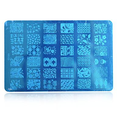 10PCS 새로운 2016 DIY 아름다움 이미지 네일 스텐실 네일 아트 platesdesignsdiy 도구를 hk03 임의 배송 홍콩 (1-10) 스탬핑