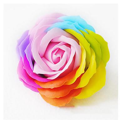1 db színes művirág rózsa virág színes rózsa virág esküvői lakberendezési (véletlenszerű szín)