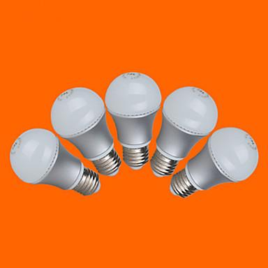 E26/E27 Круглые LED лампы G60 10 SMD 3528 350 lm Тёплый белый Холодный белый Декоративная AC 220-240 V 5 шт.