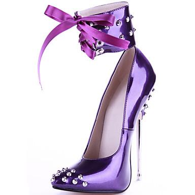 Žene Cipele Umjetna koža Proljeće Jesen Stiletto potpetica za Zabava i večer Crn Crvena
