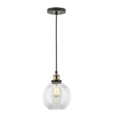 Industrial Factory Pendant Lamp - Antique Brass One-Light Fixture Glass Shade,Cafe Dining Room  Pendant Light