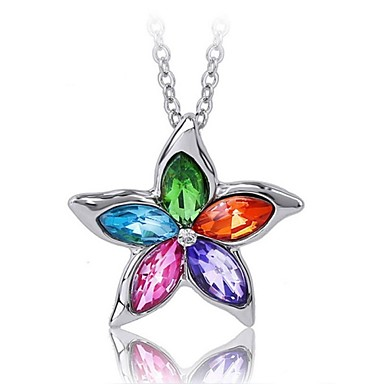 Women's Crystal Pendant Necklace - Fashion Necklace For Wedding Party Daily Casual