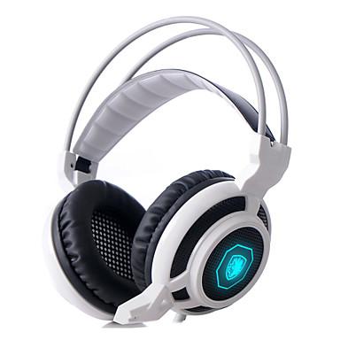 Sades arcmage 3.5mm jogos de PC mais de fones de ouvido de jogos fone de ouvido estéreo com microfone& controle de volume