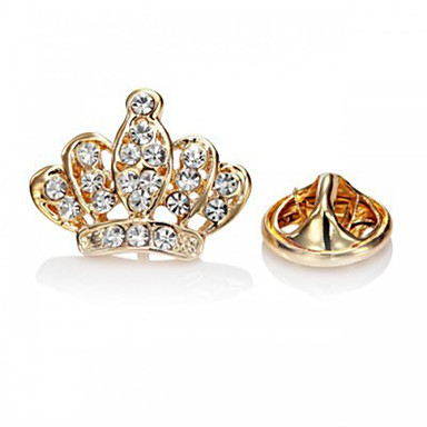 Mulheres Broches - Strass, Imitações de Diamante Coroa Luxo, Europeu, Fashion Broche Prata / Dourado Para Festa / Ocasião Especial / Aniversário