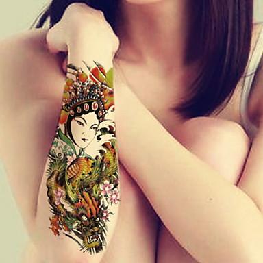 Tatuointitarrat-BR-Korusarjat / Kukkasarjat / Toteemisarja / Muut-Glitter-Non Toxic / Kuvio / Suuri koko / Glitter / Kynäruisku /