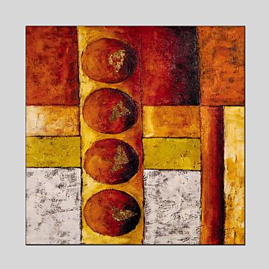 מצויר ביד מופשטמודרני / קלאסי / מסורתי / פסטורלי / סגנון ארופאי פנל אחד בד ציור שמן צבוע-Hang For קישוט הבית