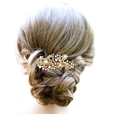 Liga Pentes de cabelo / Decoração de Cabelo com Floral 1pç Casamento / Ocasião Especial Capacete