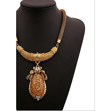 Žene Kristal Kubični Zirconia Imitacija dijamanta Ogrlice s privjeskom  -  Luksuz Moda Europska Geometric Shape zaslon u boji Ogrlice Za