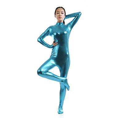 Zentai Anzüge Ninja Zentai Kostüme Cosplay Kostüme Blau Solide Gymnastikanzug / Einteiler Zentai Kostüme Elasthan Glänzend Metallisch