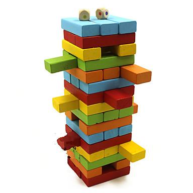 Pöytäpelit Rakennuslelut Pinoava torni Lelut Tasapaino Puu Klassinen 48 Pieces Lahja