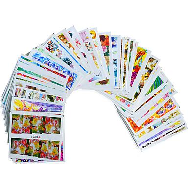 3D Nail Stickers - Muuta - Sarjakuva / Kukka / Lovely - Sormi / Varvas - 15cm x 10cm x 5cm (5.91in x 3.94in x 1.97in) - 50PCS