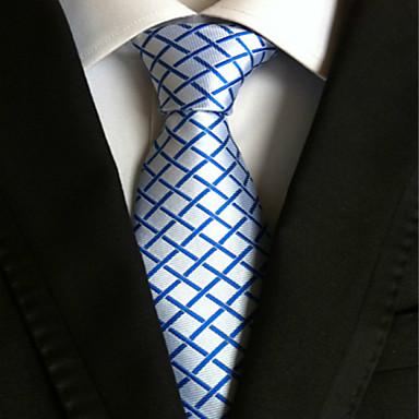 남성용 사치 격자무늬 클래식 파티 웨딩 넥타이 - 창의적 스타일리쉬