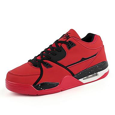 Masculino Sapatos Couro Inverno Primavera Verão Outono Conforto Cadarço para Branco Preto Vermelho