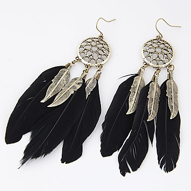 Women's Drop Earrings - Leaf, Feather Personalized, European, Fashion For Party / Daily / Casual