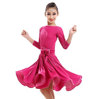 Latin tánc Ruhák Teljesítmény Bársony Virág Ruha