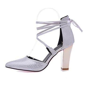 Avokkaat - Leveä korko - Naisten kengät - Personoidut materiaalit / Tekonahka - Musta / Punainen / Valkoinen / Beesi - Häät / Puku / Rento