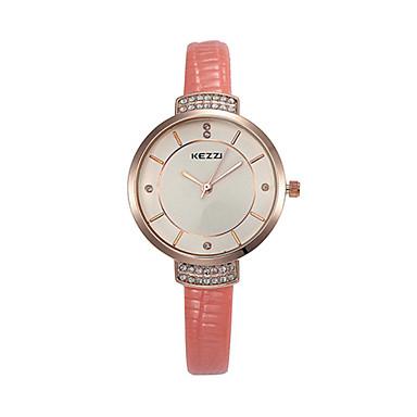 Mulheres Relógio de Moda Quartzo Couro Banda Elegant Preta Branco Vermelho Marrom Rosa