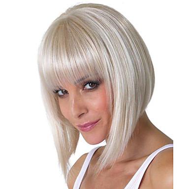sonho bobo prateado curto, médio perucas Kanekalon sintética africano mulheres americanas perucas