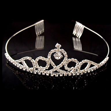 סגסוגת ריינסטון קריסטל tiaras headpiece בסגנון נשי קלאסי