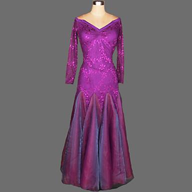 Für den Ballsaal Kleider Damen Leistung Krepp Samt Drapiert Kleid