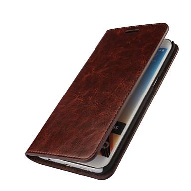 Hülle Für Samsung Galaxy Samsung Galaxy Hülle Geldbeutel / Kreditkartenfächer / mit Halterung Ganzkörper-Gehäuse Solide Echtleder für S7 edge / S7 / S6 edge plus