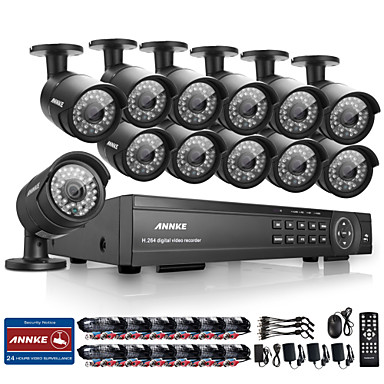 annke® 16Ch hd 1080p açık CCTV ev güvenlik kamera sistemi dvr video kaydetmek
