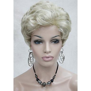 Naisten Synteettiset peruukit Laineita Vaaleahiuksisuus Halloween Peruukki Carnival Peruukki Rooliasu peruukki