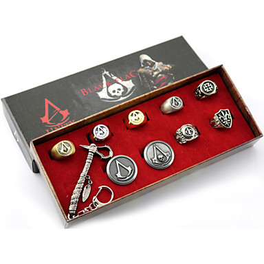 Mücevher Esinlenen Assassin's Creed Cosplay Anime / Video Oyunları Cosplay Aksesuarları Kolyeler / Rozet / Broş / Daha Fazla Aksesuarlar