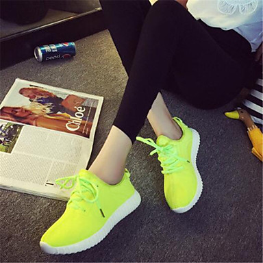 Trčanje Ženske cipele-Modne tenisice-Aktivnosti u prirodi / Ležerne prilike / Atletika-Platno-Ravna potpetica-Udobne cipele-Crna / Zelena /