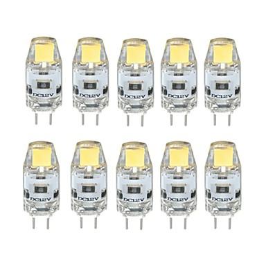10pcs 1W 100 lm G4 LED Bi-Pin lamput T 1 ledit COB Himmennettävissä Lämmin valkoinen Kylmä valkoinen DC 12V