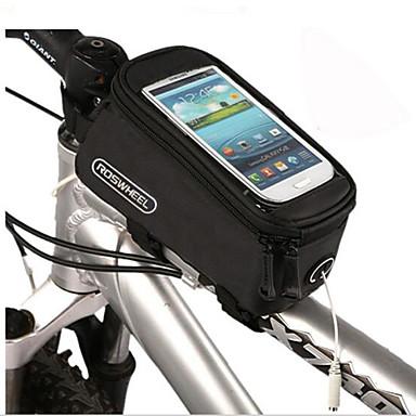 저렴한 자전거 가방-휴대 전화 가방 자전거 프레임 백 4.2/4.8/5.5 인치 터치 스크린 싸이클링 용 iPhone X iPhone XR iPhone XS 사이클링 / 자전거 / iPhone XS Max