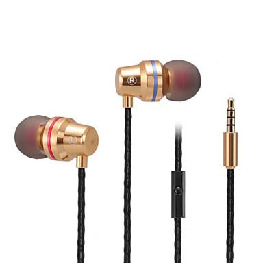 ABINGO S500I No ouvido Com Fio Fones Armadura equilibrada Aluminum Alloy Celular Fone de ouvido Com Microfone Fone de ouvido