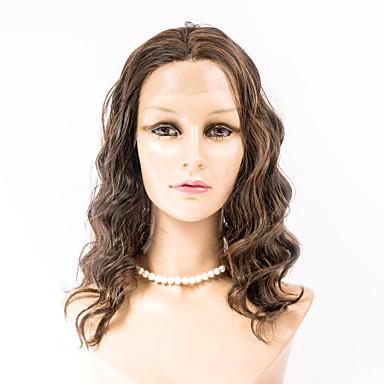 Mulher Perucas Lace Front Sintéticas Ondulado Marrom Escuro Marrom Médio # 27 # 30 # 33 Peruca para Fantasia