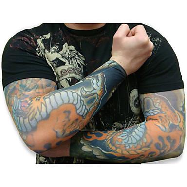 가짜 임시 문신 슬리브 바디 아트 암 스타킹 액세 멋진 10PCS