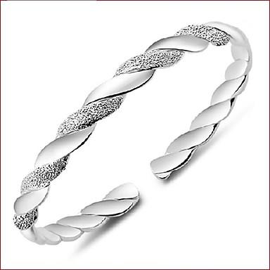נשים צמידי חפתים עיצוב מיוחד אופנתי מצופה כסף תכשיטים תכשיטים עבור חתונה